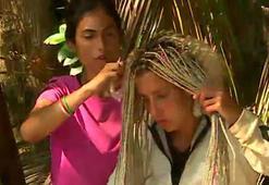 Survivor Elif Morun saçlarını böcekler bastı