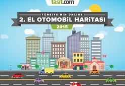 Türkiye'nin 2015 Online 2.El Otomobil Haritası