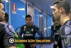Devre arasında Ronaldo böyle görüntülendi...