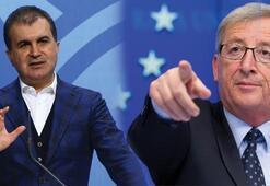 AB Bakanı Çelikten Junckere sert yanıt