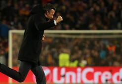Luis Enrique 6 atabiliriz dedi, maç sonu dans etti