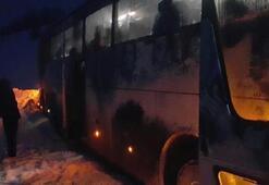1461 Trabzon otobüsü kaza yaptı