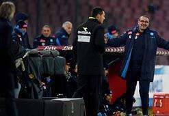 Inter-Napoli maçında teknik direktörler Mancini ile Sarri kapıştı