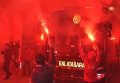 Galatasaraya Konyada coşkulu karşılama