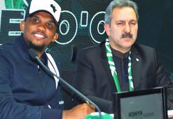 Konyaspor, Sammuel Etoo ile 2,5 yıllık sözleşme imzaladı