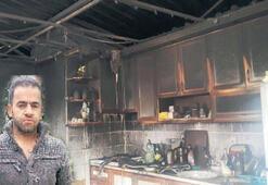 Kiracı olduğu ev yandı hayatı kabusa döndü