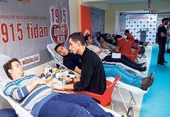 Öğrencilerden kan bağışlı destek