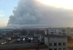 Ukraynada cephanelikte patlama 20  bin kişi tahliye edildi
