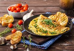 Sebzeli peynirli fırın omleti