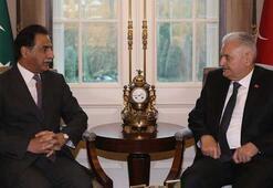 Başbakan Yıldırım, Pakistan Meclis Başkanı Sadık ile görüştü