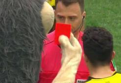Schalke maskotundan hakeme kırmızı kart