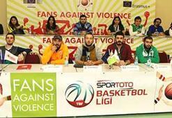 Basketbol taraftarları Madridde buluştu