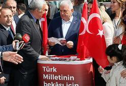 Başbakan Yıldırımdan MHP standına ziyaret