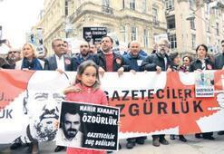 Gazeteciler için 100 adım yürüyüşü