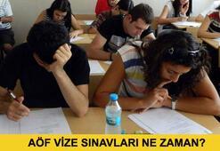 AÖF vize sınavları ne zaman yapılacak (AÖF sınav giriş belgesi ne zaman yayınlanacak)