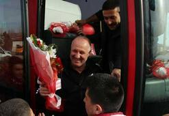 Medicana Sivasspor kafilesi Konyaya gitti