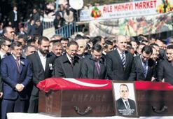 Davutoğlu, Gürbüz'ün cenaze törenine katıldı