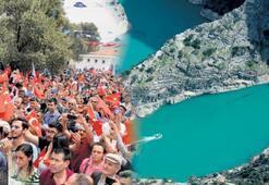 Kanyona turist akını