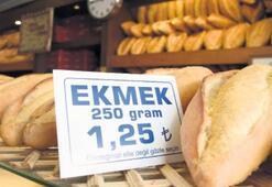 250 gram ekmek 1.25 TL oldu