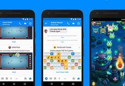 Facebook Messenger'a yeni oyunlar ve özellikler geliyor