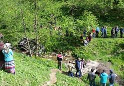 Trabzonda yayla yolunda feci kaza: 4 ölü, 3 yaralı