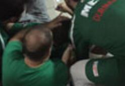 Basketbol maçında olaylar çıktı Bursaspor masörü kanlar içinde kaldı