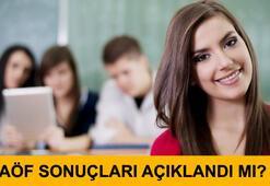 AÖF sınav sonuçları açıklandı mı (29-30 Nisan AÖF sınavları)
