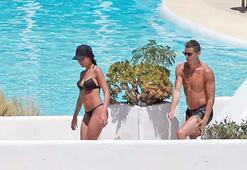 Ronaldo sevgilisiyle tatil yaparken görüntülendi