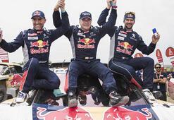 Dakar Rallisine Carlos Sainz damgası