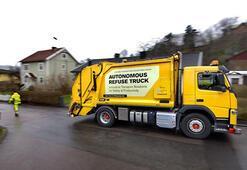Testler başladı; Volvo'dan sürücüsüz çöp kamyonu