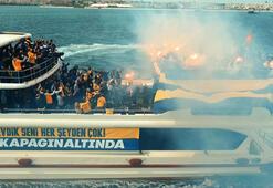 Taraftarlar Final Foura teknelerle akın ettiler