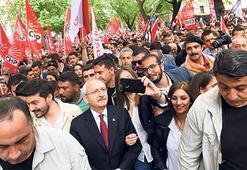 CHP'li  gençler Anıtkabir'e yürüdü
