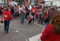 Haklarından memnun olmayan binlerce AT&T çalışanından iş bırakma eylemi