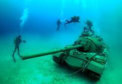 Güvercin Adasına dalış turizmi içi tank taşındı