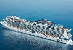 MSC Cruises yeni nesil gemisi Meravigliayı suya indiriyor