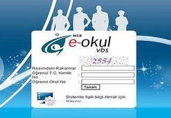 E-Okul öğrenci giriş işlemi (e Okul VBS not sorgulama ekranı)
