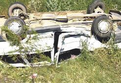 Kazadan burnu bile kanamadan kurtuldu