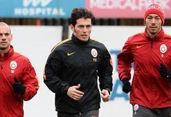Galatasarayda Sneijder ve Umut Bulut takımdan ayrı çalıştı