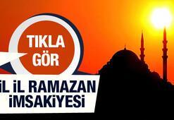 İl il iftar ve sahur saatleri Diyanet Ramazan imsakiyesi 29 Mayıs 2017