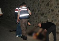 Yol kenarında kanlar içerisinde bir ceset bulundu