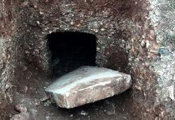 Kaçak kazıda Roma Dönemine ait oda mezar bulundu