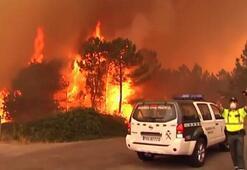 Portekizde orman yangınlarını söndürmeye çalışan uçak düştü