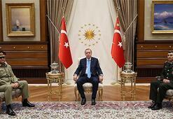 Cumhurbaşkanı Erdoğan, Pakistan Kara Kuvvetleri Komutanını kabul etti