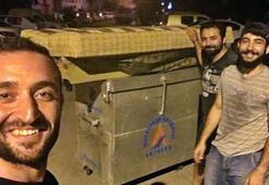 Antalyada çöp konteynerini öyle bir şey için kullandılar ki...