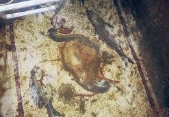 Kaçak kazıda tarihi mozaik