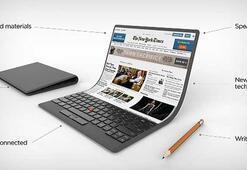 Lenovo esnek ekranlı dizüstü bilgisayar konseptini gün yüzüne çıkardı
