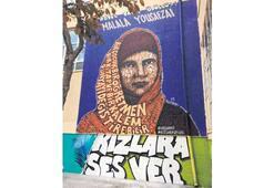 'Malala' Kadıköy  duvarlarında