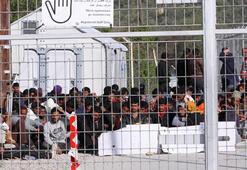 Göçmen kampında açlık grevi