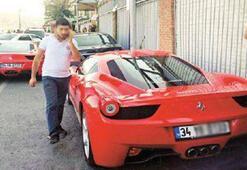 İki ayrı Ferrari aynı plaka ile pişti oldu