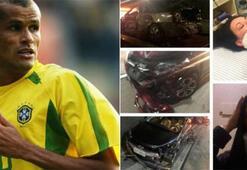 Rivaldonun eşi ve kızı trafik kazası geçirdi
